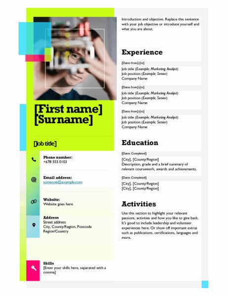 Sticky note CV