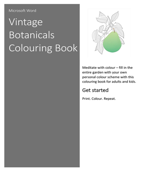 Vintage botanicals colouring book