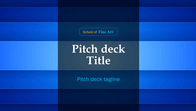 Colourful abstract pitch deck