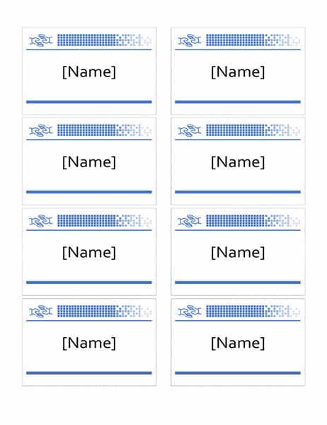 Volunteer name badges with hands