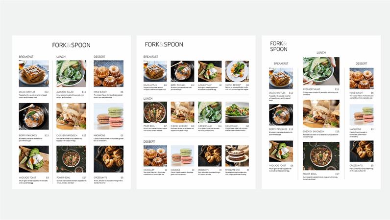 Photo menu