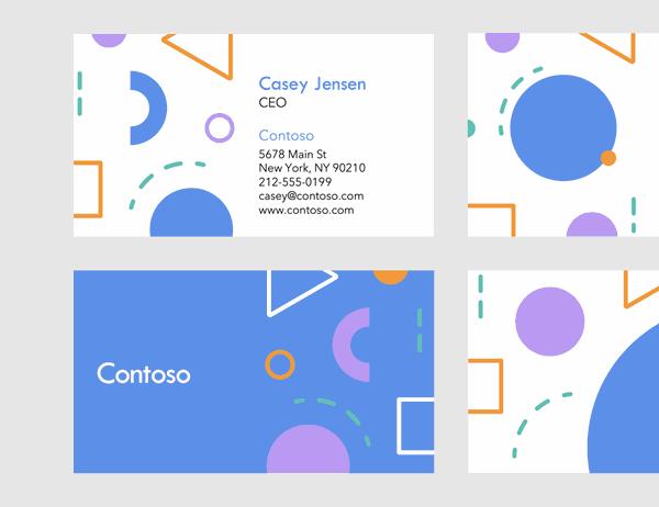 Eighties business cards