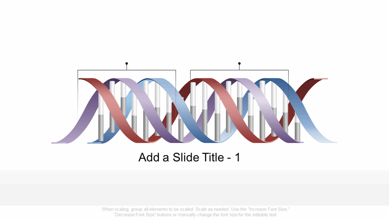 Horizontal DNA graphic
