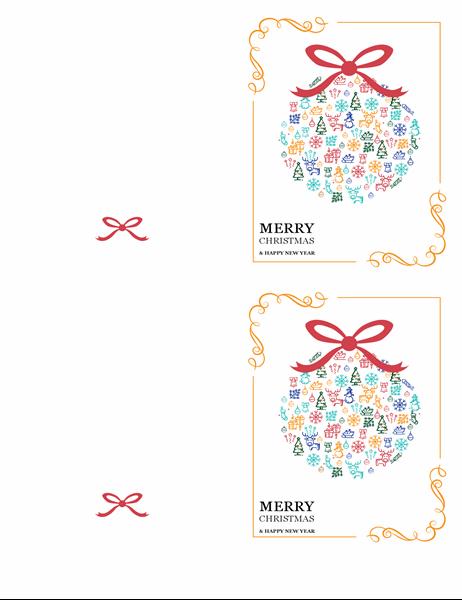 Festive ornament Christmas card
