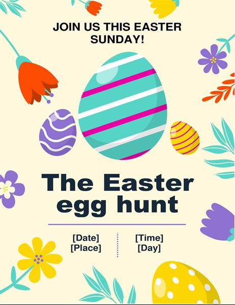 Spring colours Easter egg hunt flyer