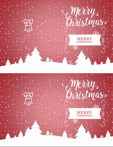 Snowscape Christmas card
