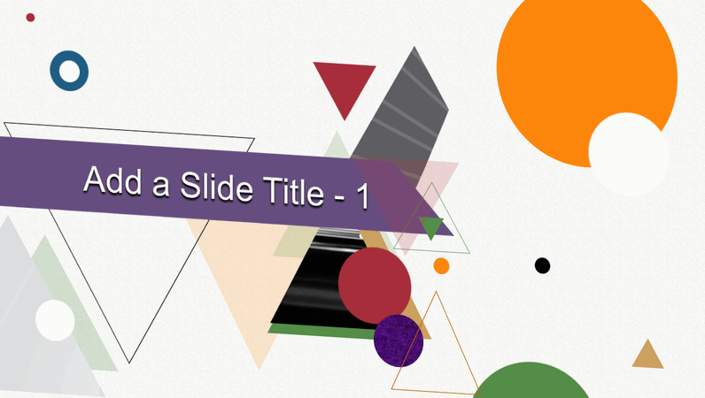 Animated title abstract