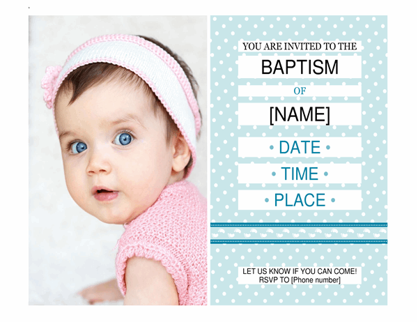 Photo baptism invitation