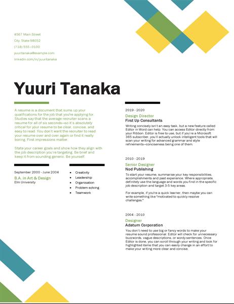 Geometric resume