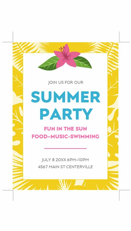 Summer invitations
