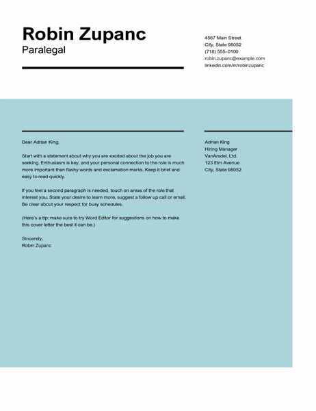 Impact cover letter