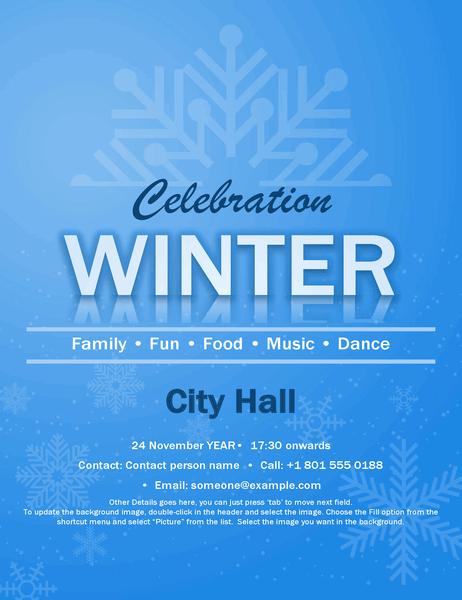 Snowflake event flyer