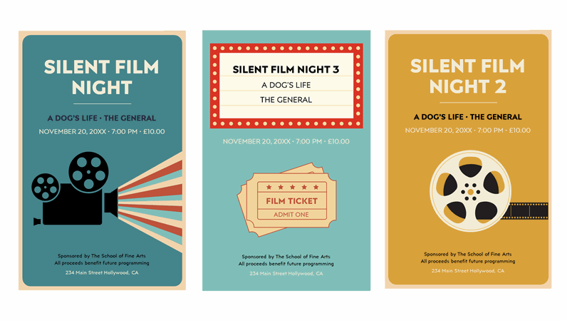 Film night posters