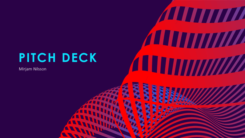 Futuristic pitch deck