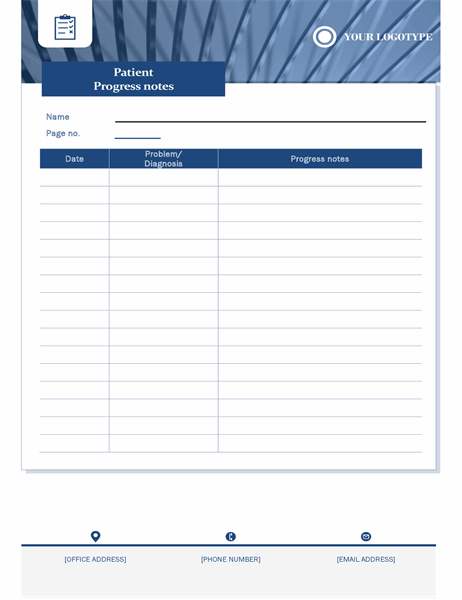 Patient progress notes healthcare