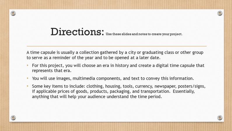 Digital time capsule