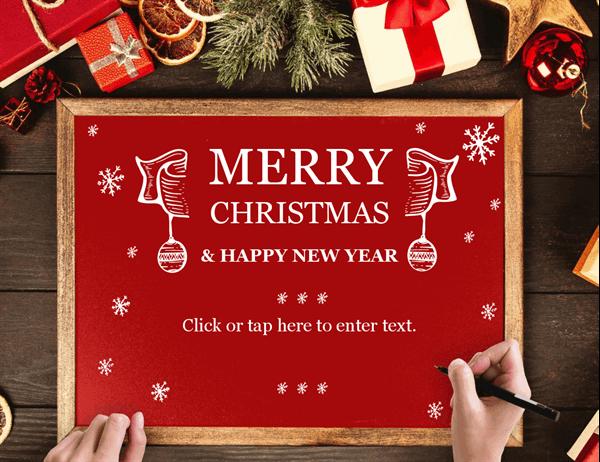 Wooden frame Christmas card