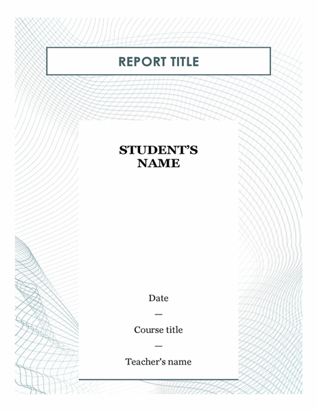 Modern student report
