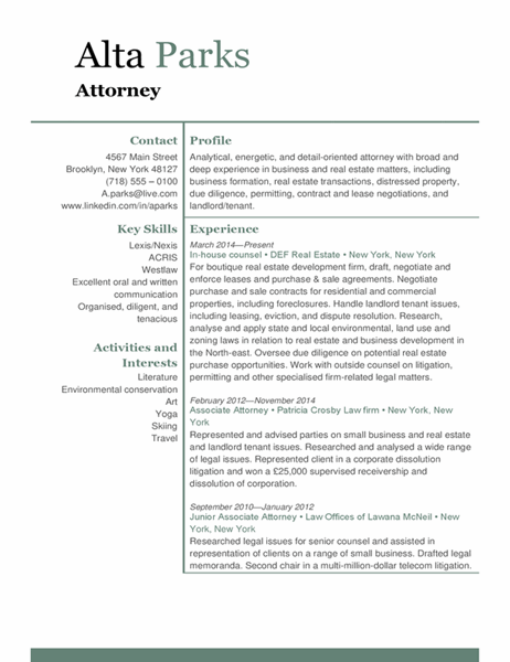 Attorney resume
