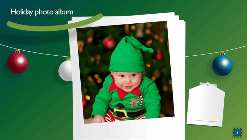 Holiday photo album