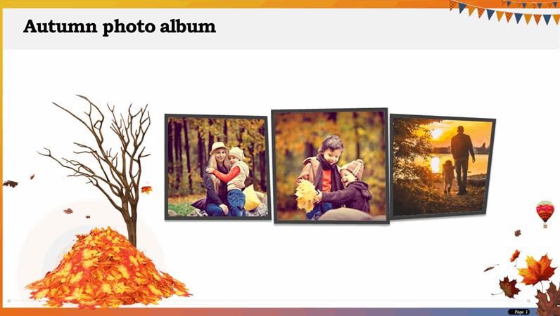 Autumn photo album