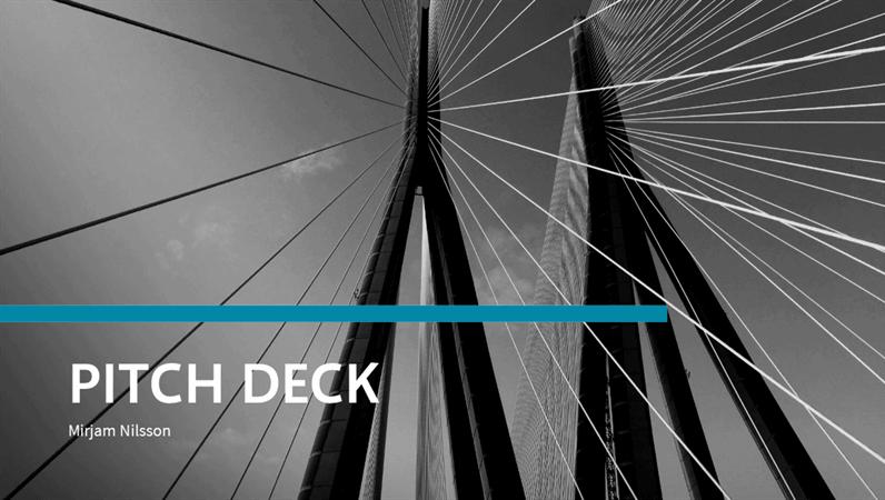Financial pitch deck