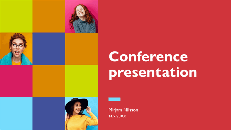 Colourful conference presentation