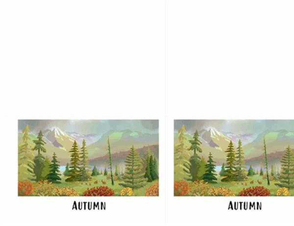 Wilderness scenes greeting cards (quarter-fold)