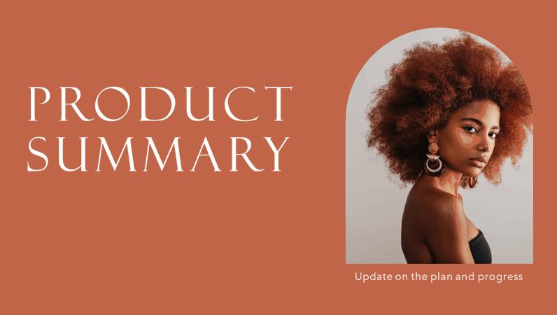 Product summary presentation