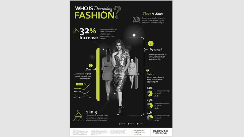 Fashion infographics poster