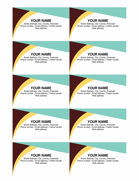 Earth tones business cards
