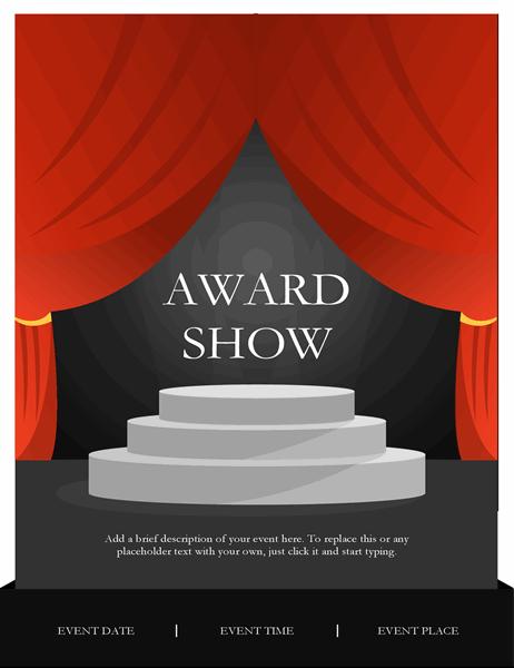 Awards show flyer