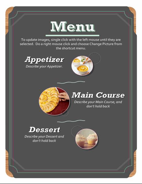 Basic photo menu