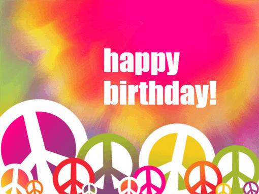 Birthday card (tie dye)