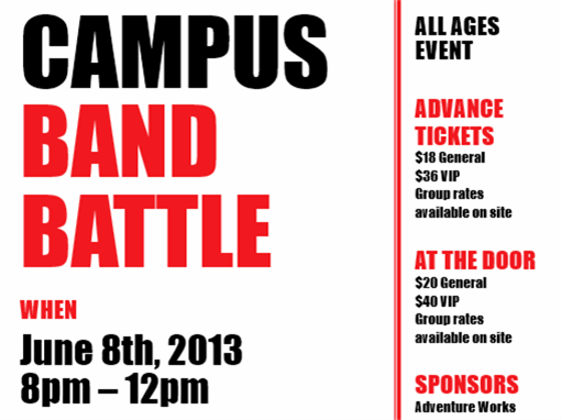 Student flyer (red and black)
