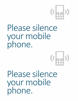 Mobile phone off reminder poster