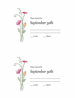 RSVP cards (Watercolor design)
