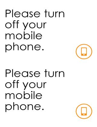Mobiles off reminder