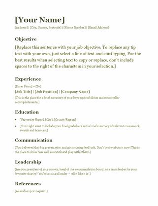 CV (green)