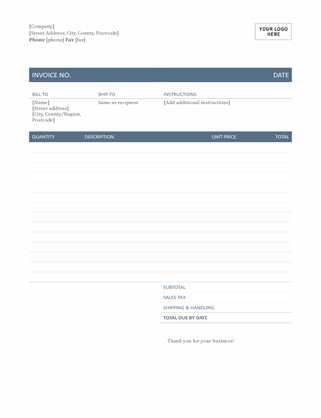 Invoice (Timeless design)