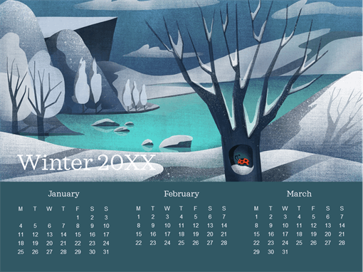 Ladybug quarterly calendar