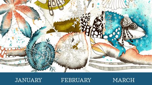 Chameleon quarterly calendar
