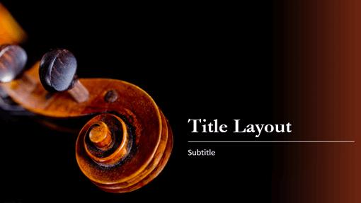 Music score presentation (treble clef design)