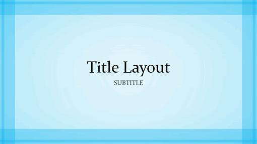 Sheer blue border design presentation (widescreen)