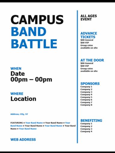 Student flyer (black and blue bold design)
