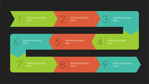 Process path infographic (Quotable theme, widescreen)