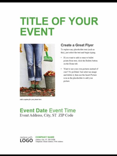 Small business flyer (green design)