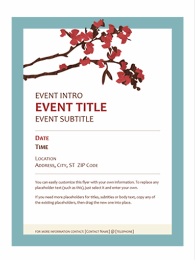 Spring flyer (flowering branch design)