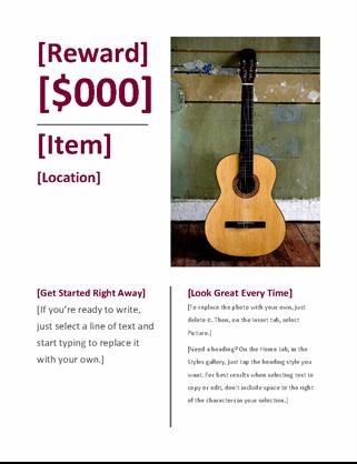 Reward flyer