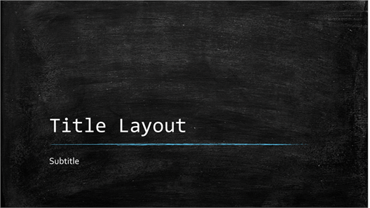 Chalkboard education presentation (widescreen)